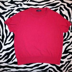 Red short sleeve sweatshirt
